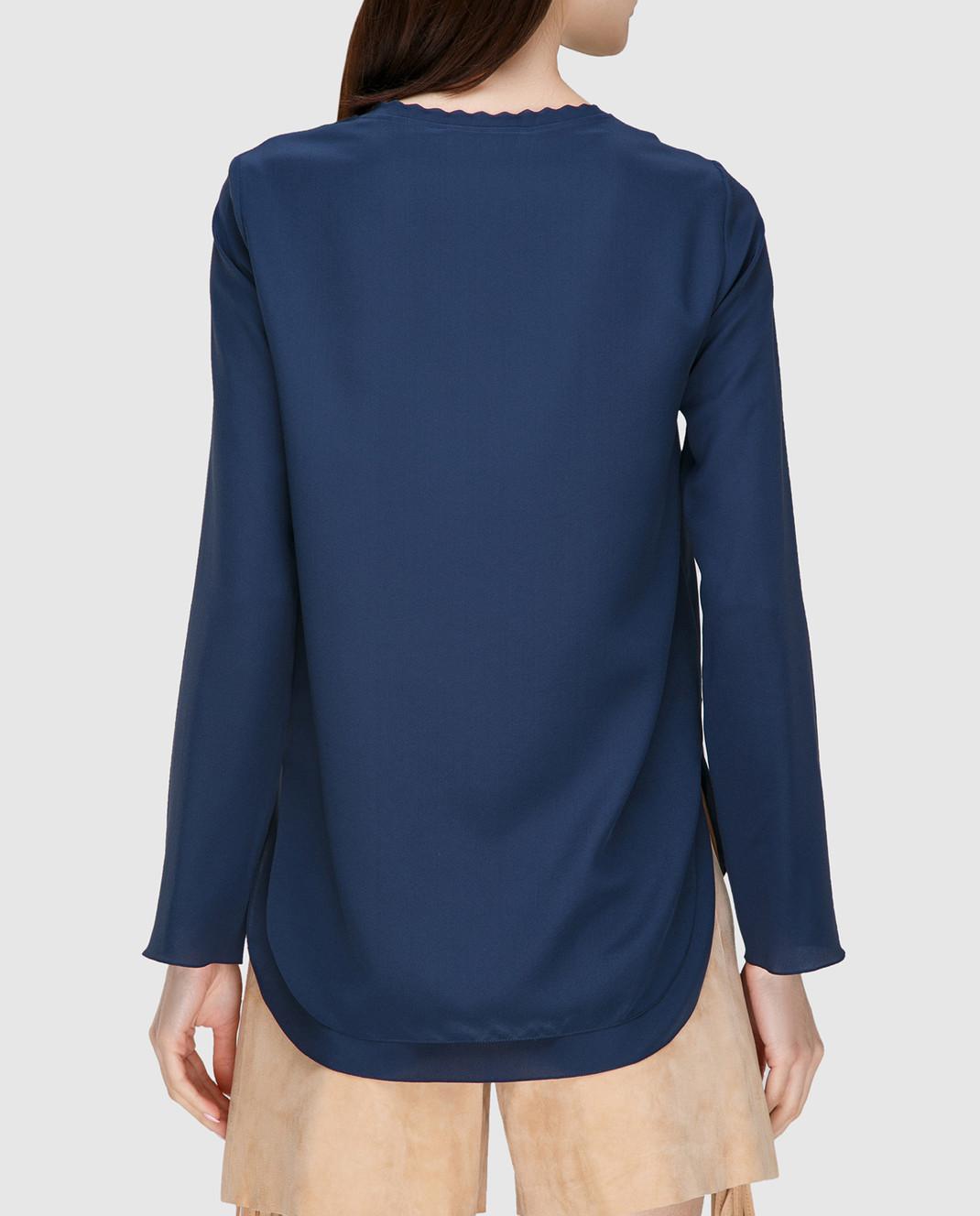 Chloe Синяя блуза 17SHT31 изображение 4