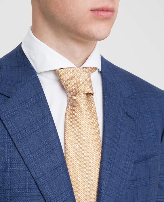 Оранжевый галстук ручной работы из шелка hover