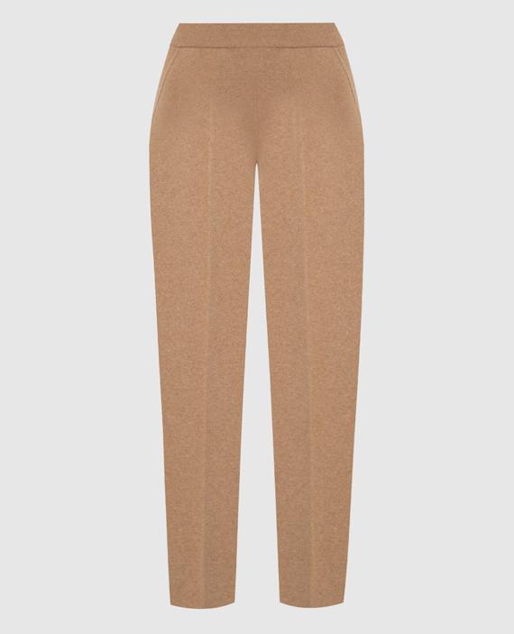 Бежевые брюки из кашемира