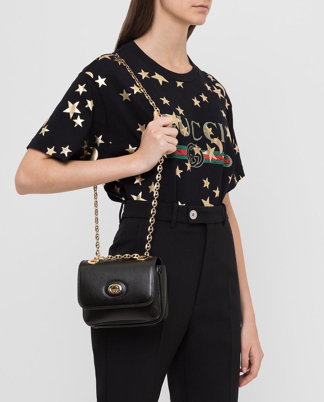 Gucci Черная кожаная сумка изображение 2