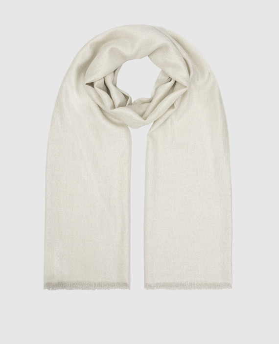 Белый шарф
