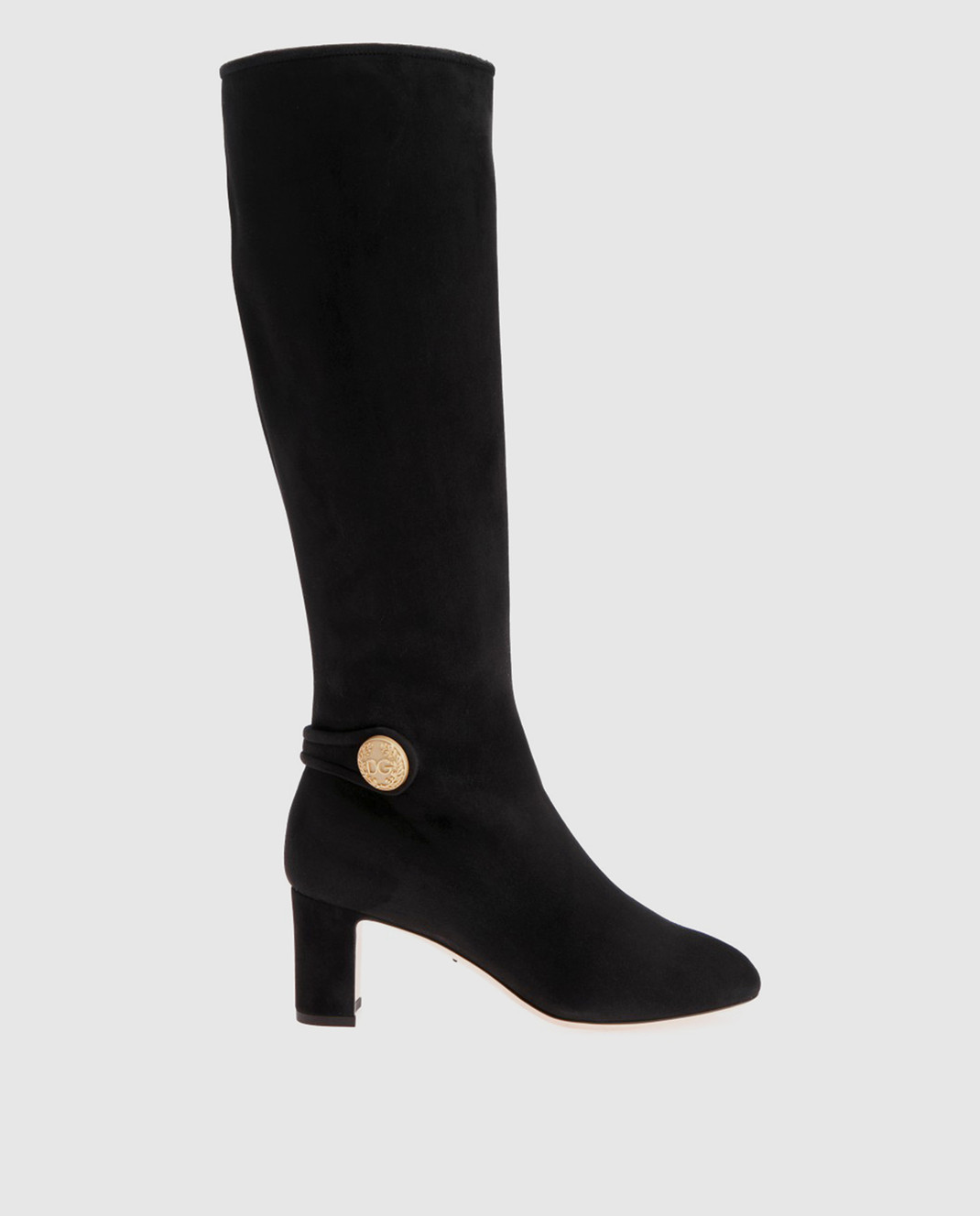 Dolce&Gabbana Черные замшевые сапоги CU0397A1275