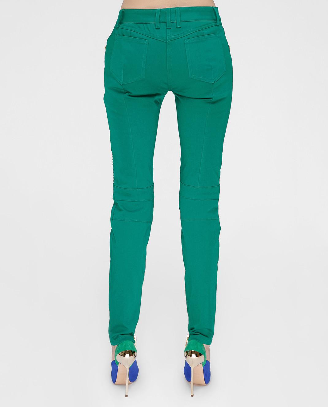 Balmain Зеленые брюки 5356347N изображение 3