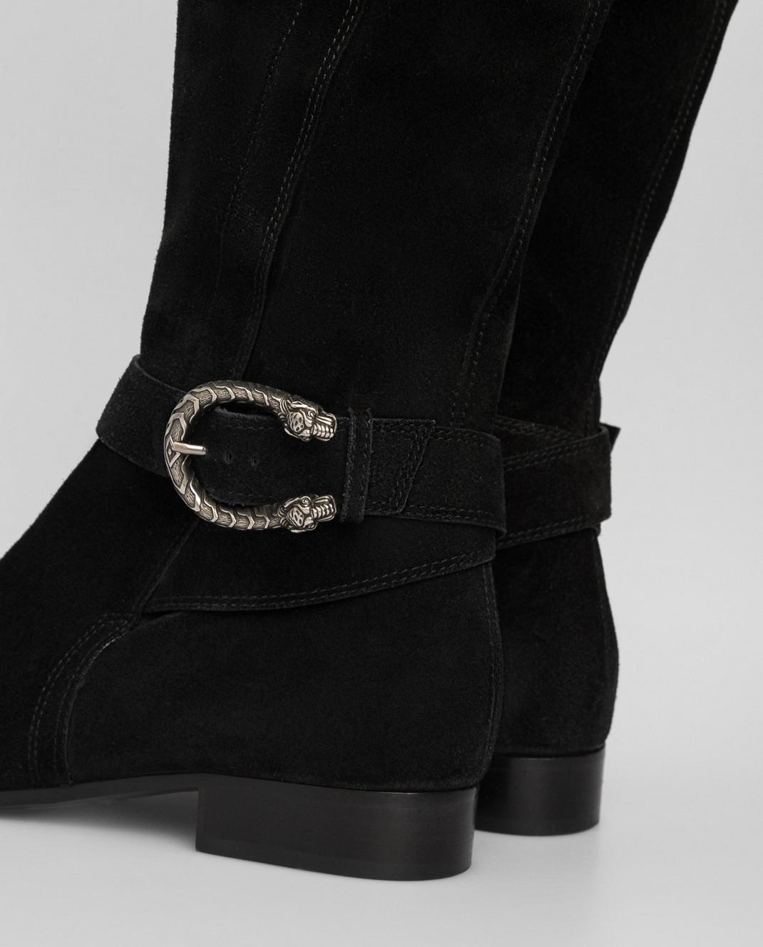 Gucci Черные замшевые ботфорты 432083CXZ10 изображение 5