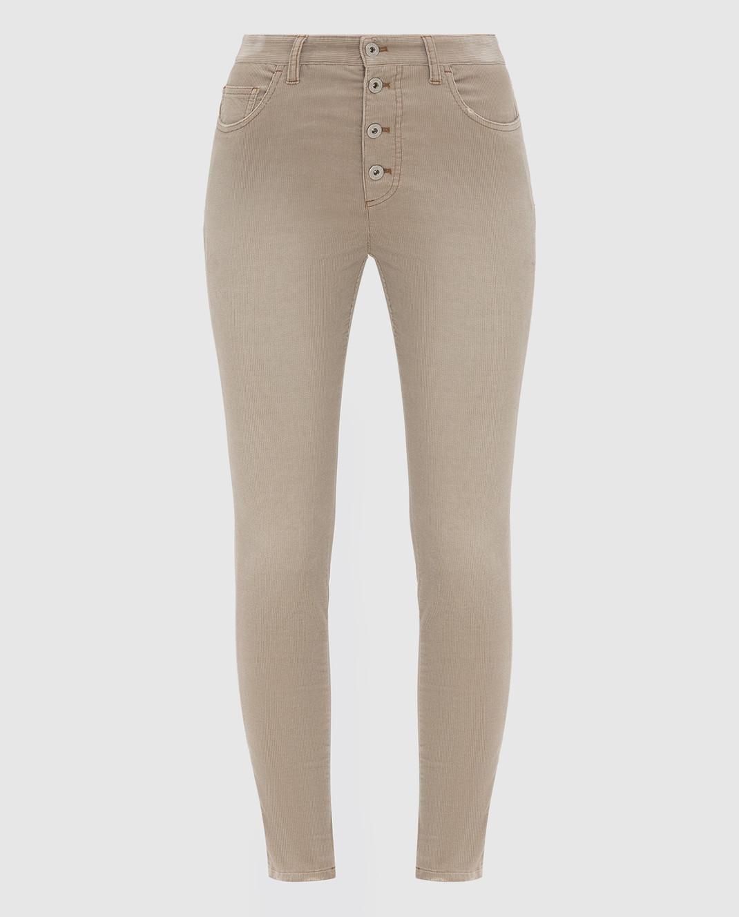 Miu Miu Бежевые вельветовые джинсы изображение 1