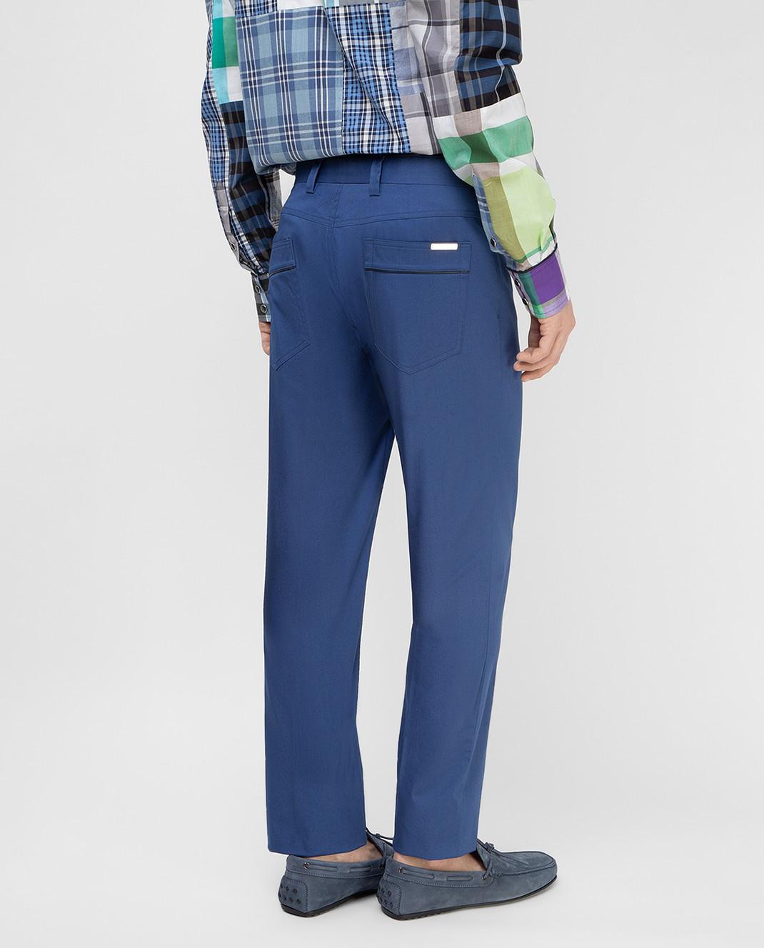 Stefano Ricci Синие брюки M1T8100020 изображение 4