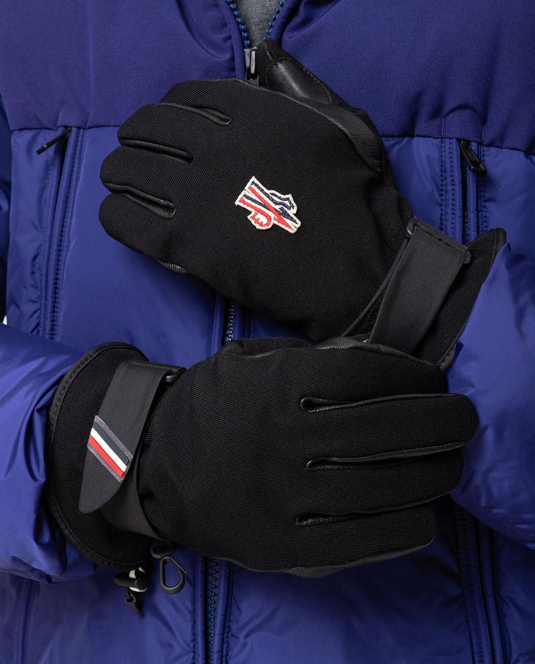 Moncler Grenoble Черные перчатки 00524 изображение 2