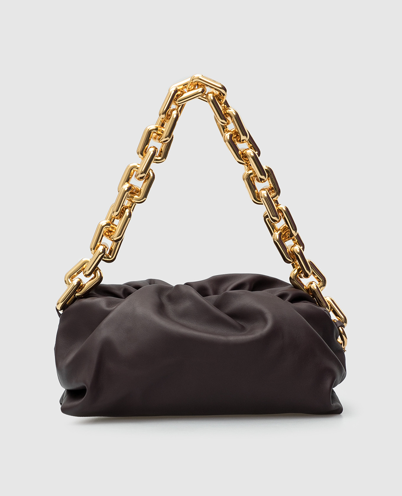 Темно-фиолетовая кожаная сумка Bottega Veneta