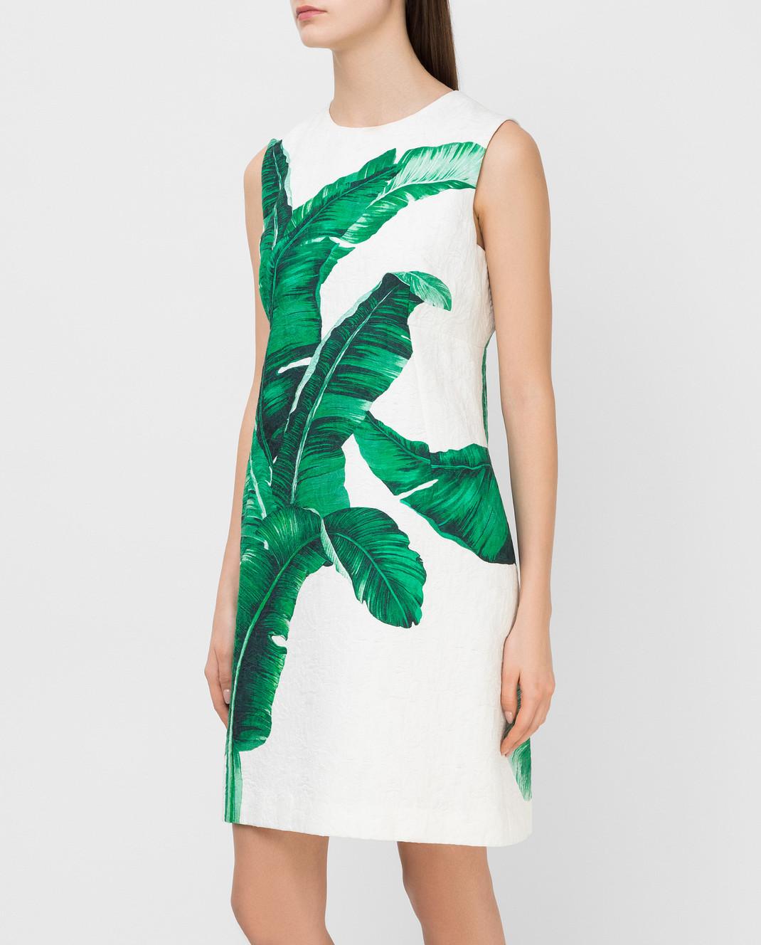 Dolce&Gabbana Белое платье F6XY4TFSMY7 изображение 3