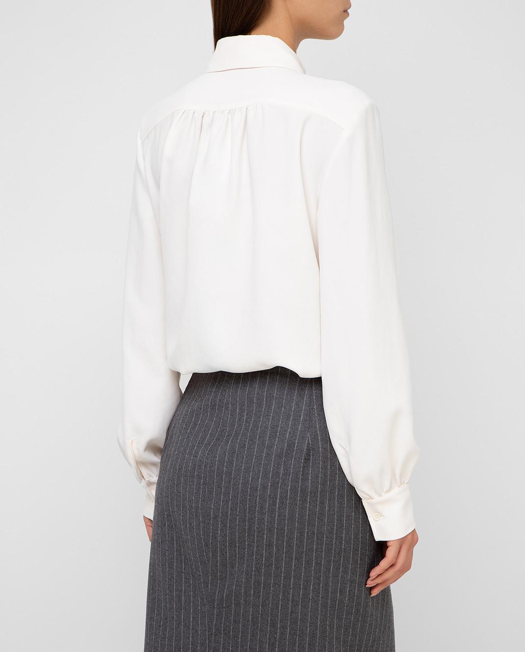 Altuzarra Светло-бежевая блуза изображение 4