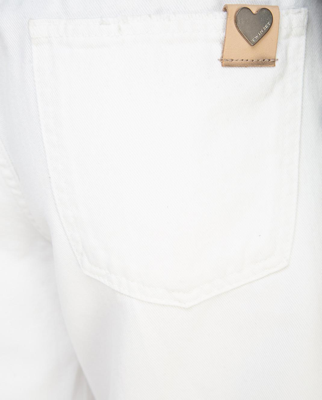 Twin Set Белые джинсы PS72S6 изображение 5