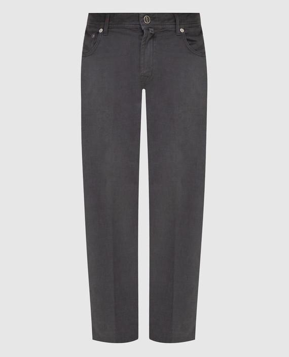 Темно-серые джинсы