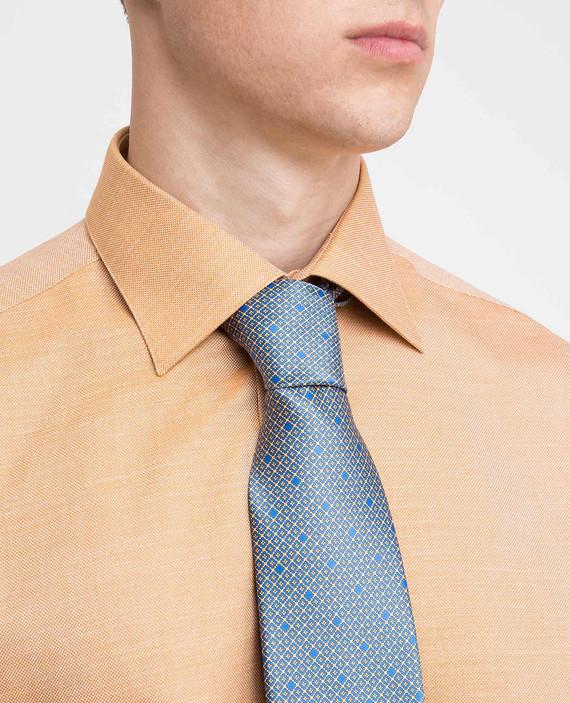 Синий галстук ручной работы из шелка hover
