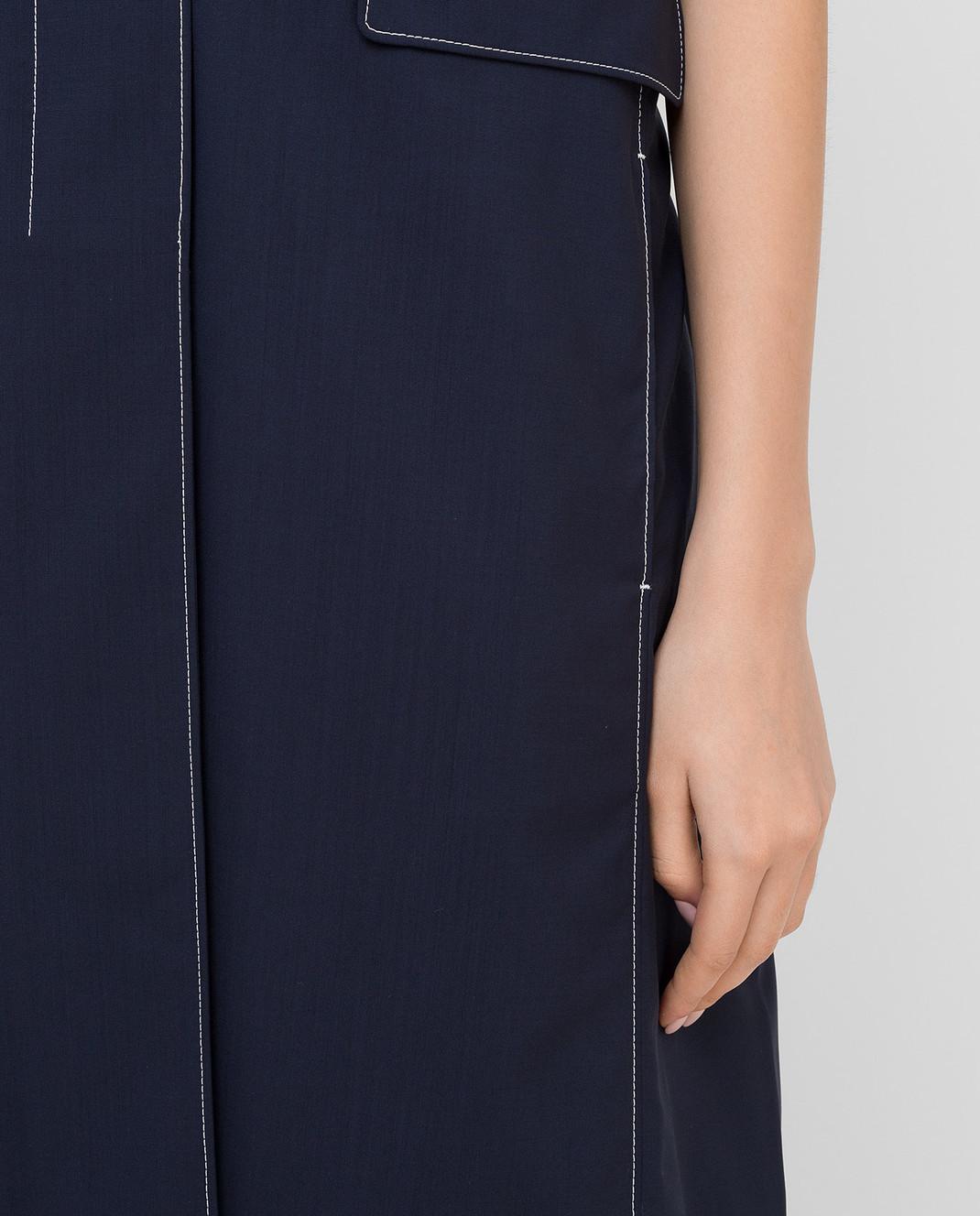 Prada Темно-синий жилет из шерсти P604E изображение 5