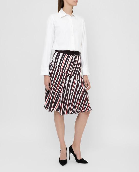 Темно-коричневая юбка hover