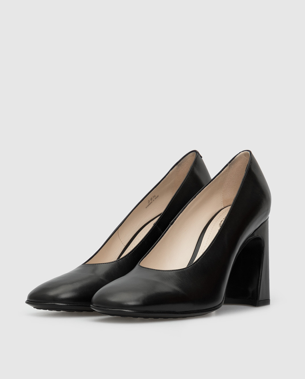 Tods Черные кожаные туфли изображение 3