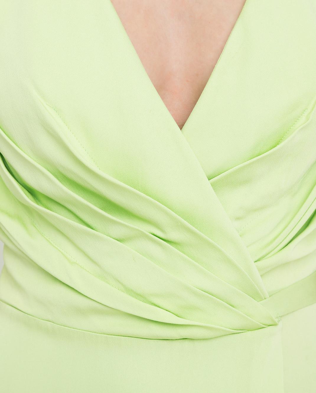 Ermanno Scervino Зеленое платье D282Q397DVY изображение 5