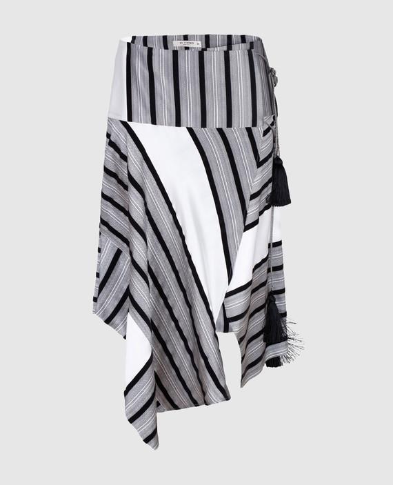 Серая юбка из шелка
