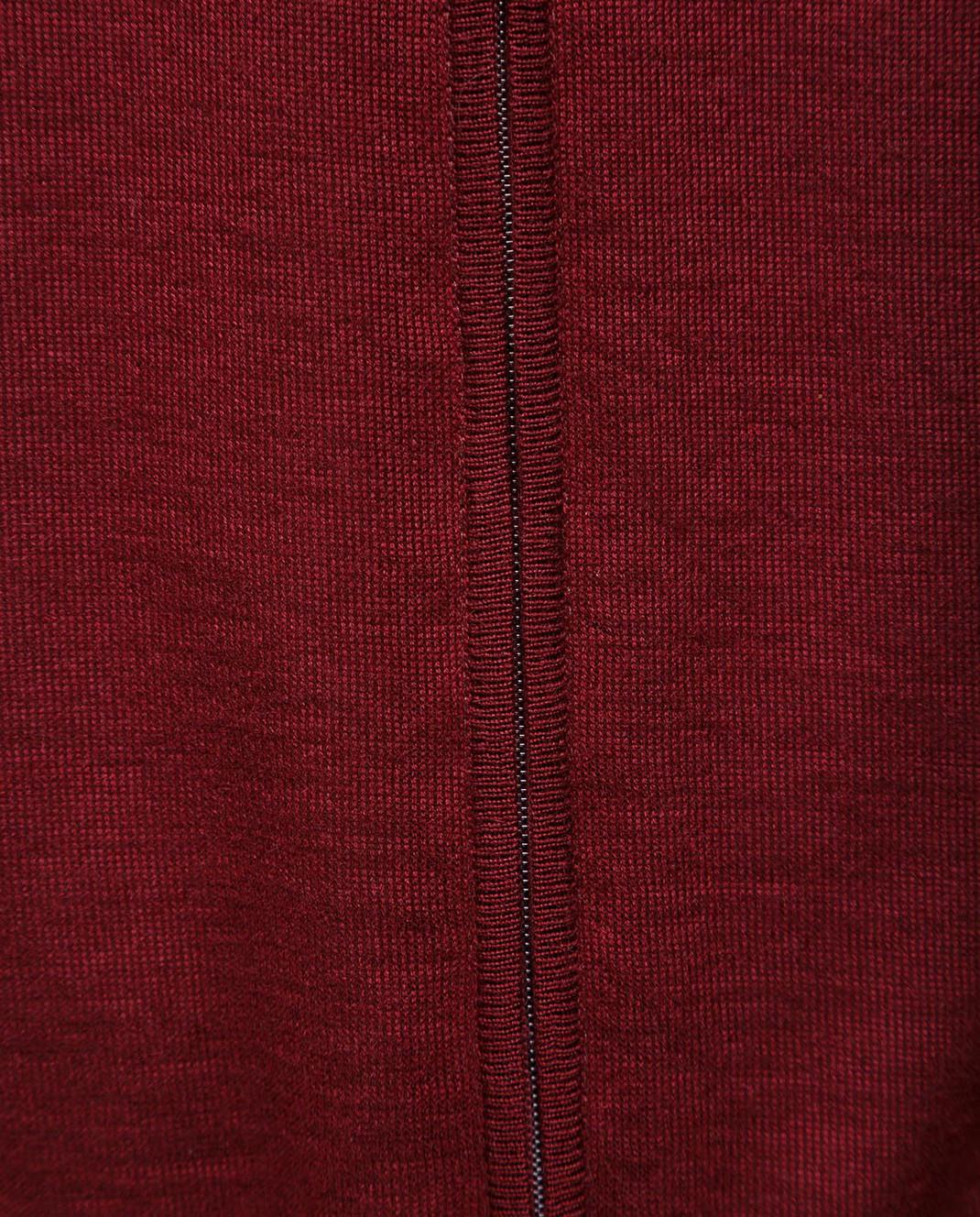 Ones Бордовый жилет из кашемира и шелка изображение 5