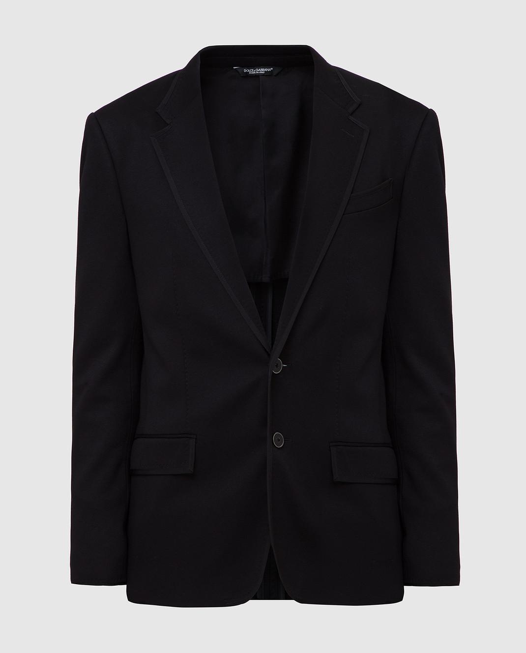 Dolce&Gabbana Черный пиджак G2MR5TFUGI2