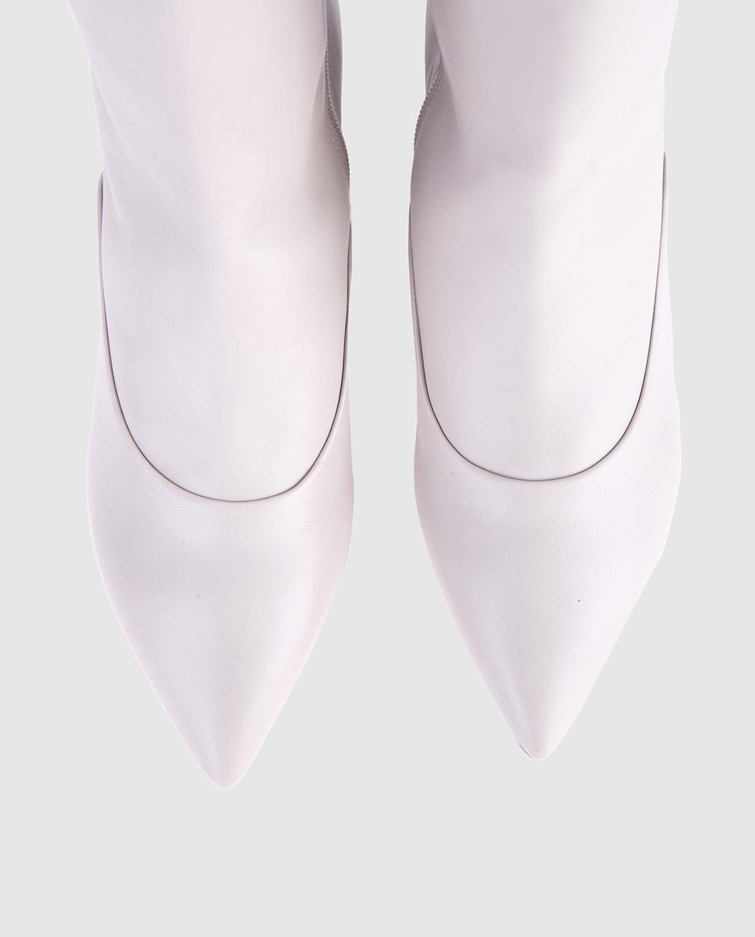 Laurence Dacade Серые кожаные сапоги SANDRINE изображение 4