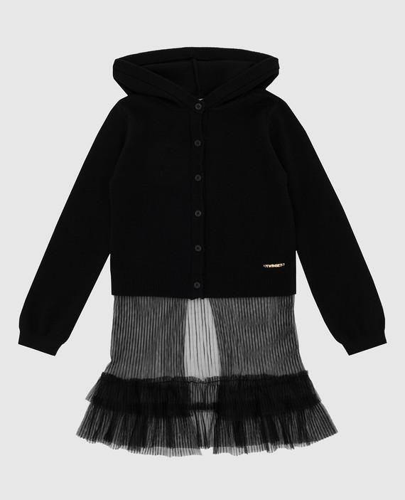 Детский черный кардиган