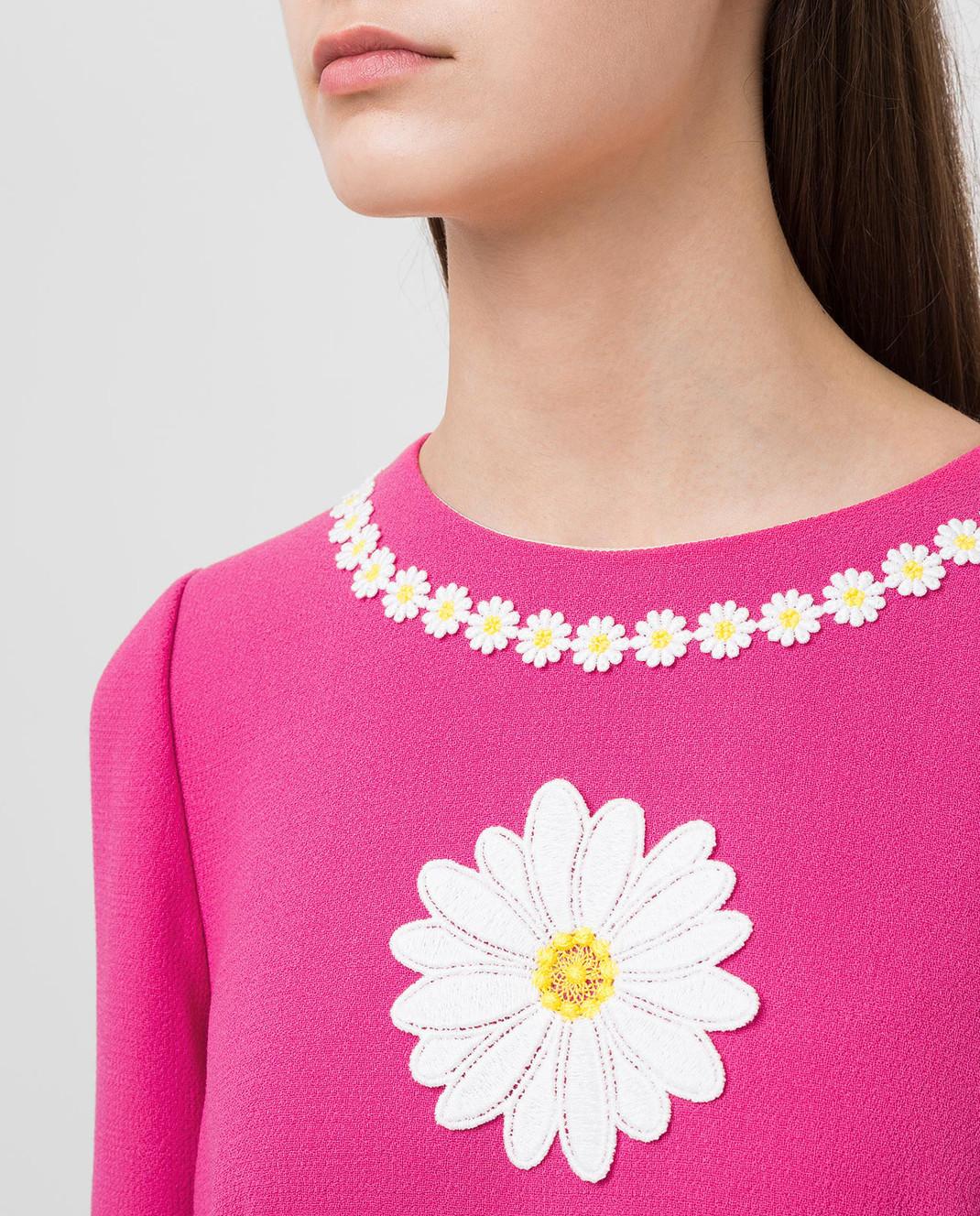 Dolce&Gabbana Розовое платье из шерсти F6UM4ZFU2TZ изображение 5