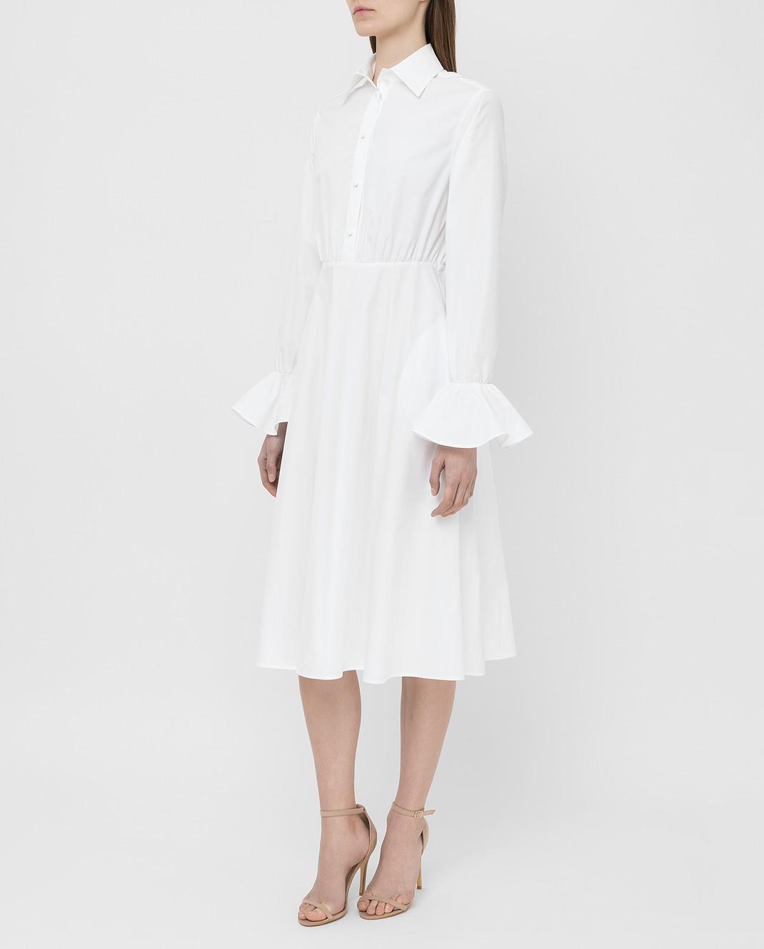 Valentino Белое платье TB3VAR204HP изображение 3