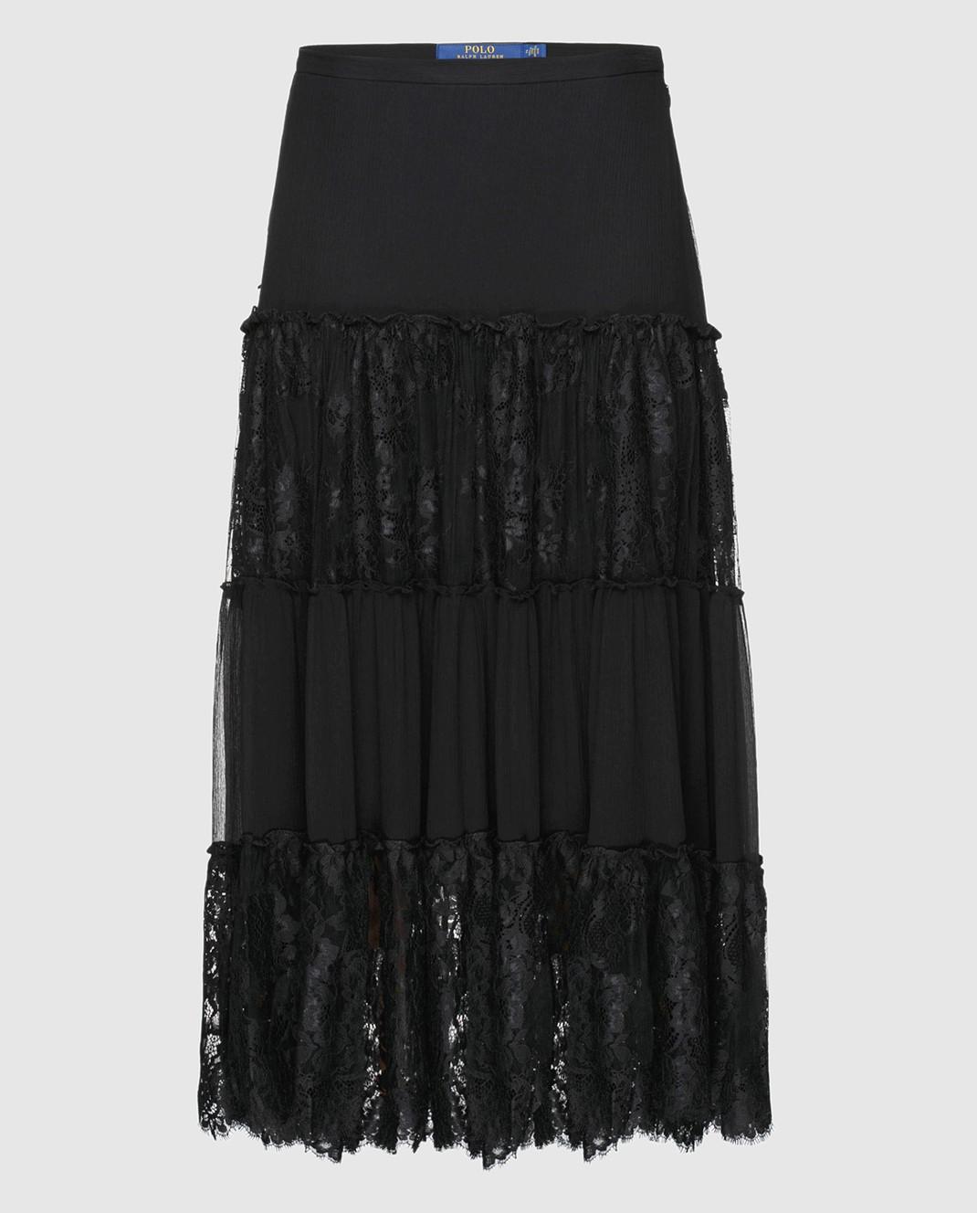 Ralph Lauren Черная юбка из шелка 211670984