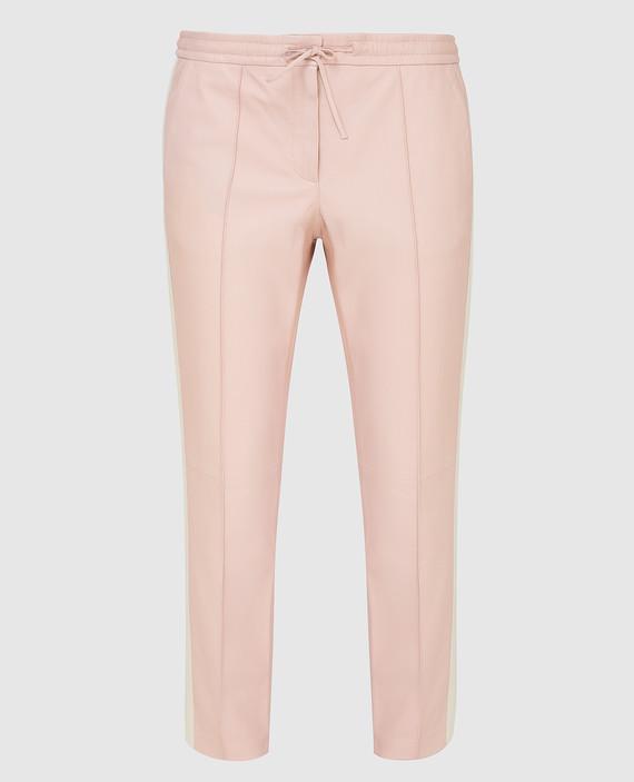Розовые кожаные брюки