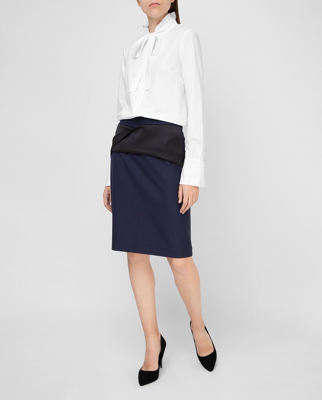 Balenciaga Темно-синяя юбка 373614 изображение 2