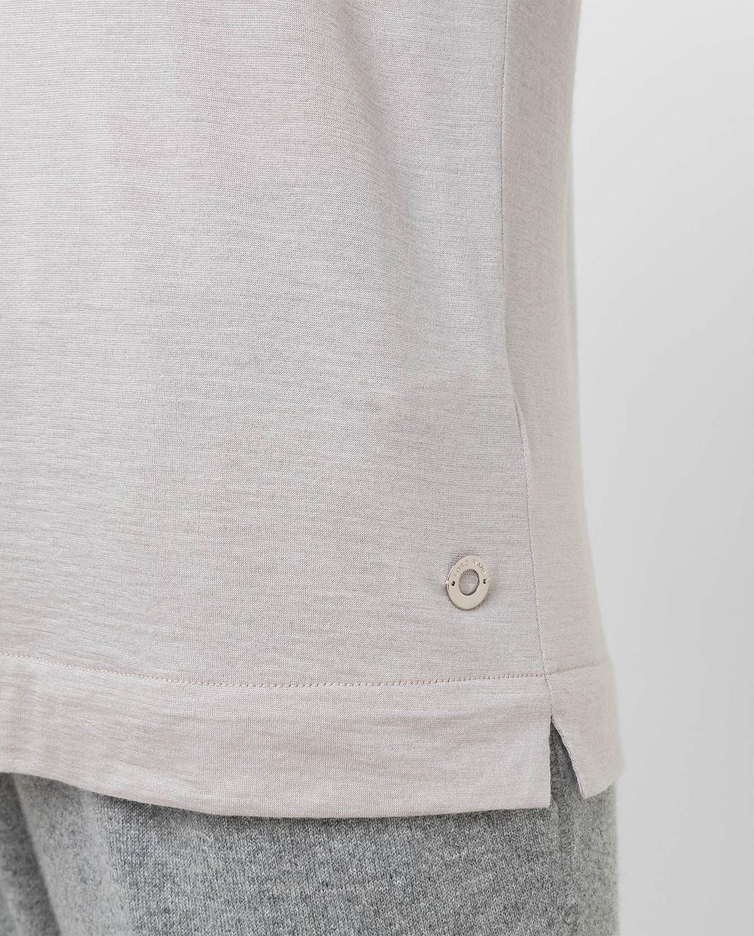 Loro Piana Серый джемпер из кашемира и шелка F2FAE5730 изображение 5