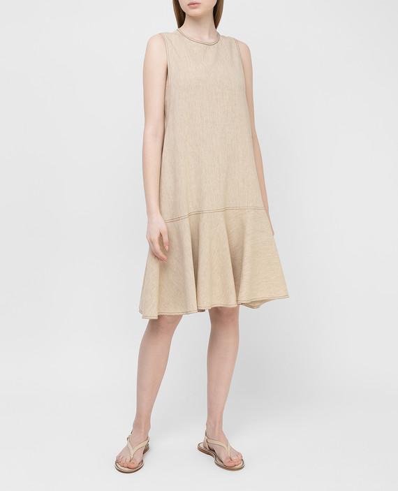 Светло-бежевое платье из льна hover