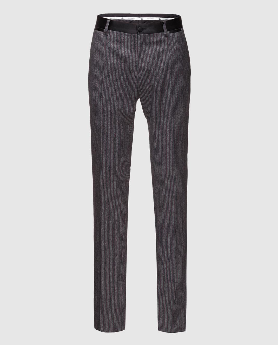 Dolce&Gabbana Бордовые брюки GYA5MTFRCB0