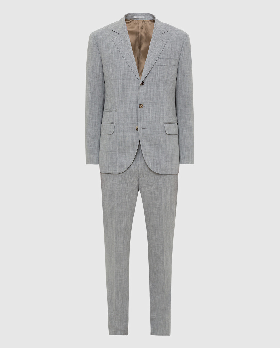 Brunello Cucinelli Серый костюм из шерсти MD4107BT7