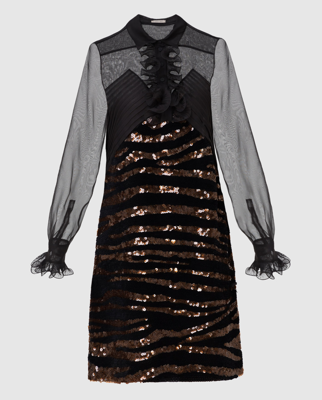 Bottega Veneta Черное платье из шелка изображение 1
