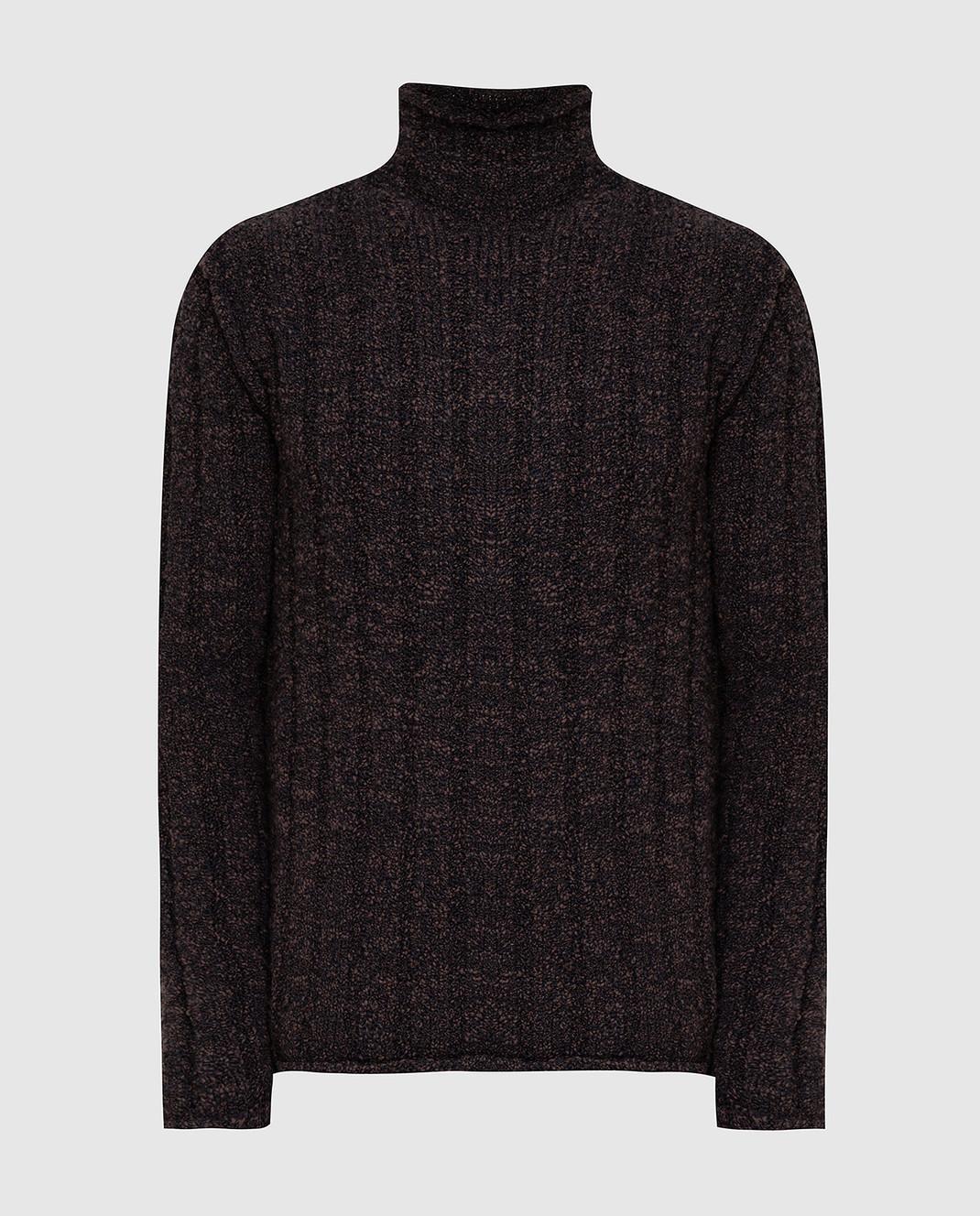 Dolce&Gabbana Коричневый свитер из шерсти изображение 1