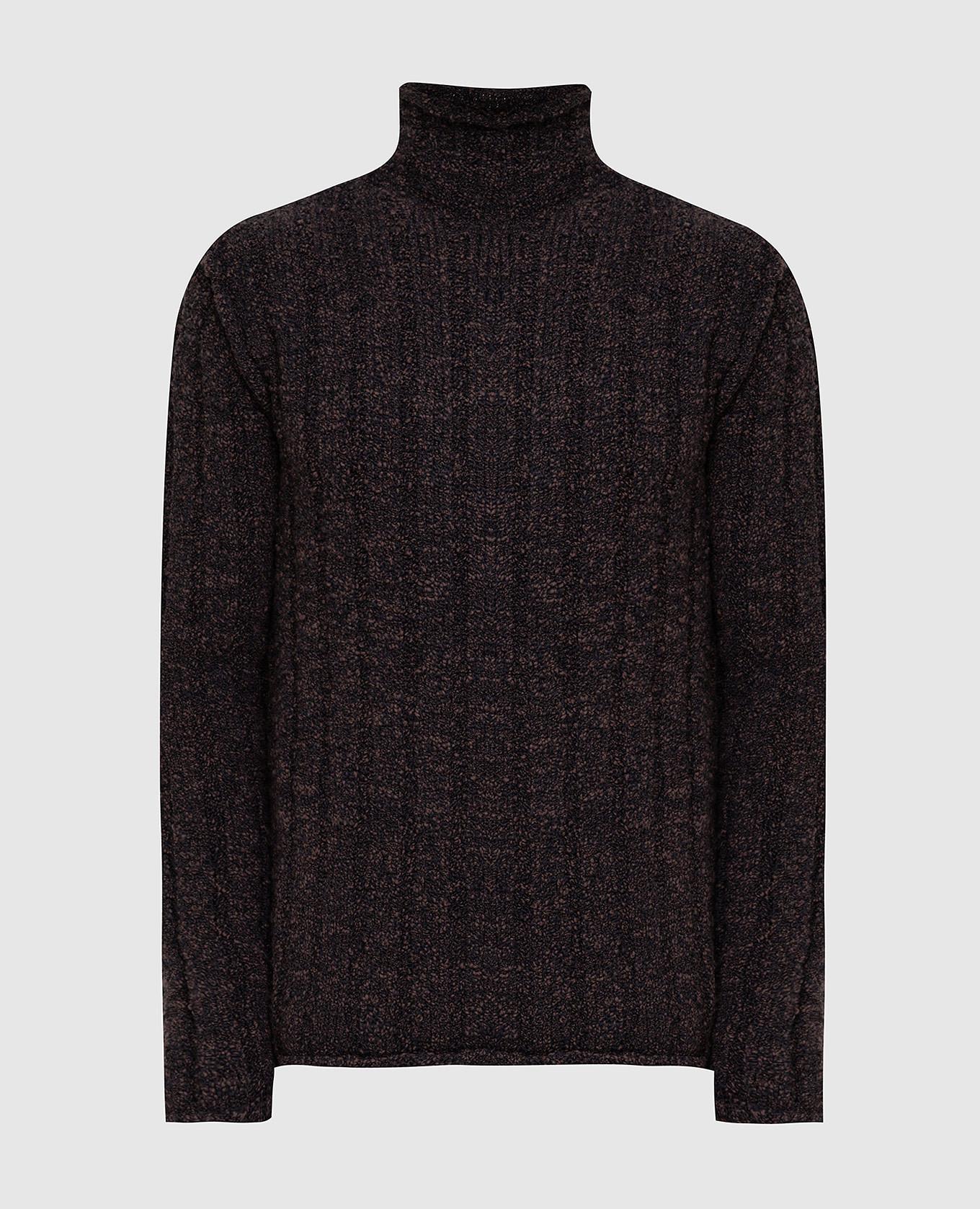 Коричневый свитер из шерсти