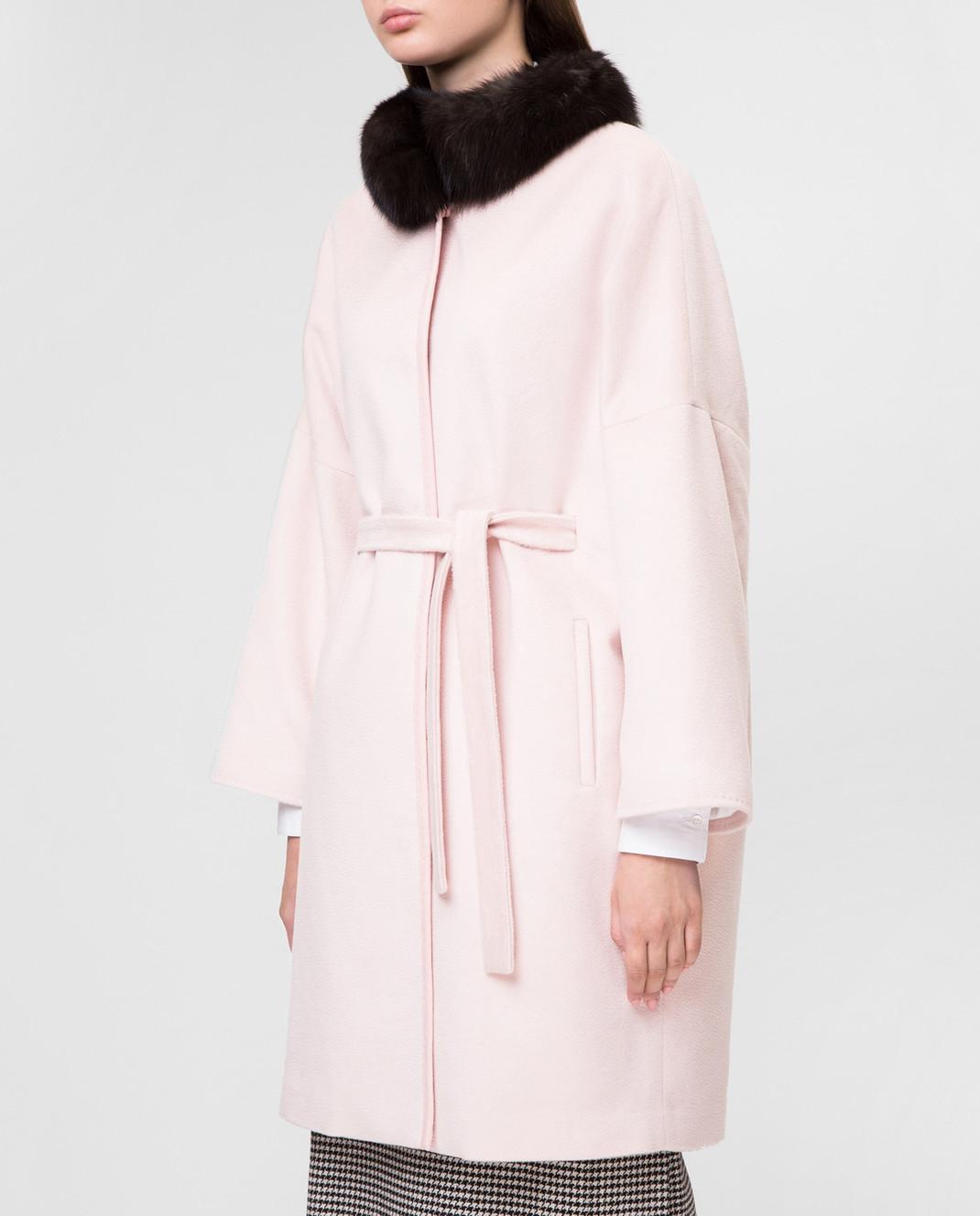 Real Furs House Пудровое пальто CSR7177 изображение 3