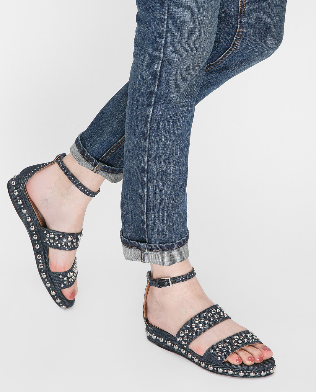 Azzedine Alaia Синие сандалии изображение 2