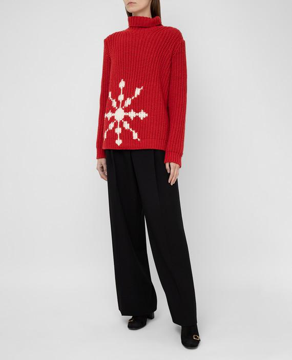 Красный свитер из кашемира hover