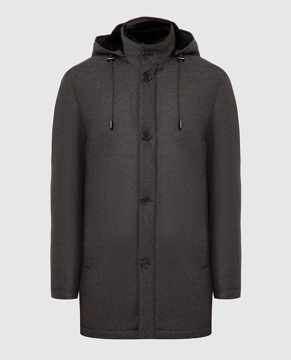 Бежевое пальто из шерсти и кашемира