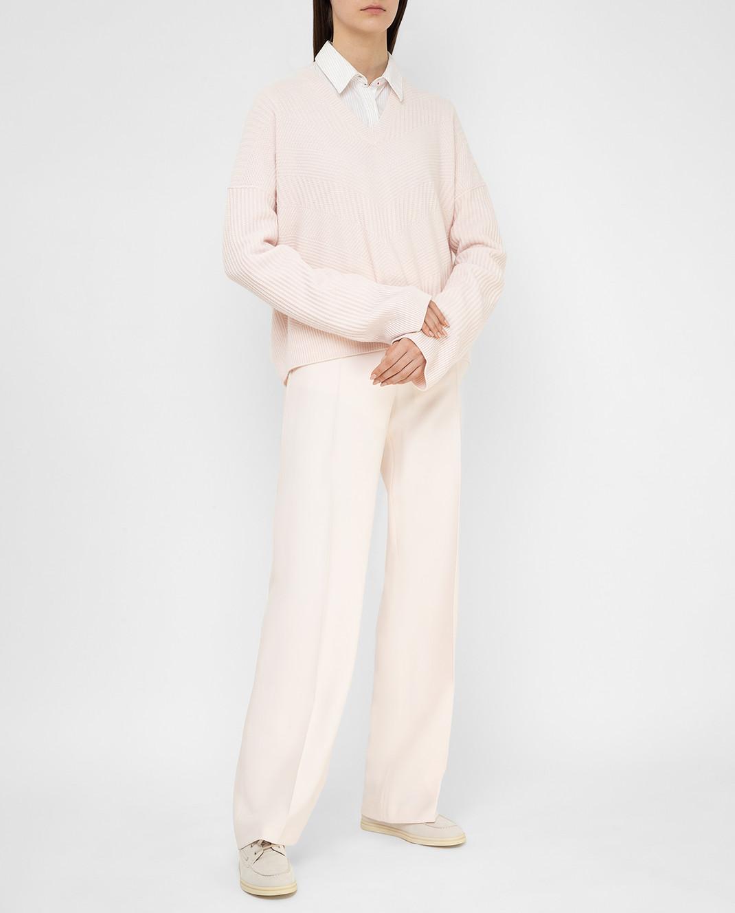 Loro Piana Розовый пуловер из кашемира F2FAI6038 изображение 2