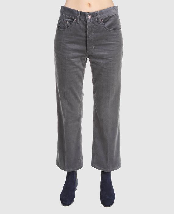 Серые вельветовые брюки hover
