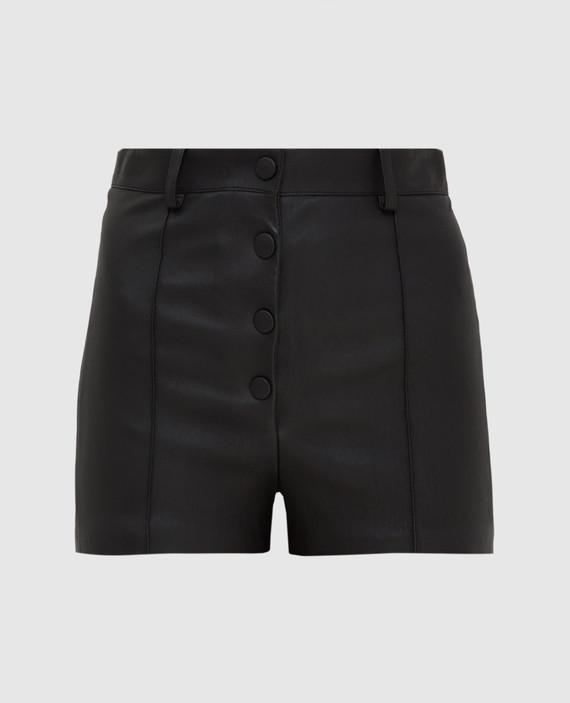Черные кожаные шорты