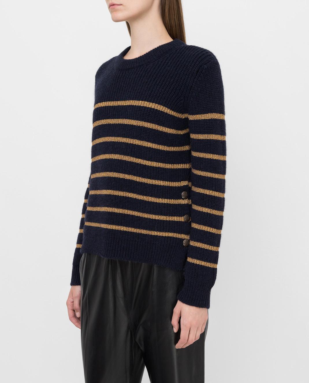 Twin Set Темно-синий свитер изображение 3