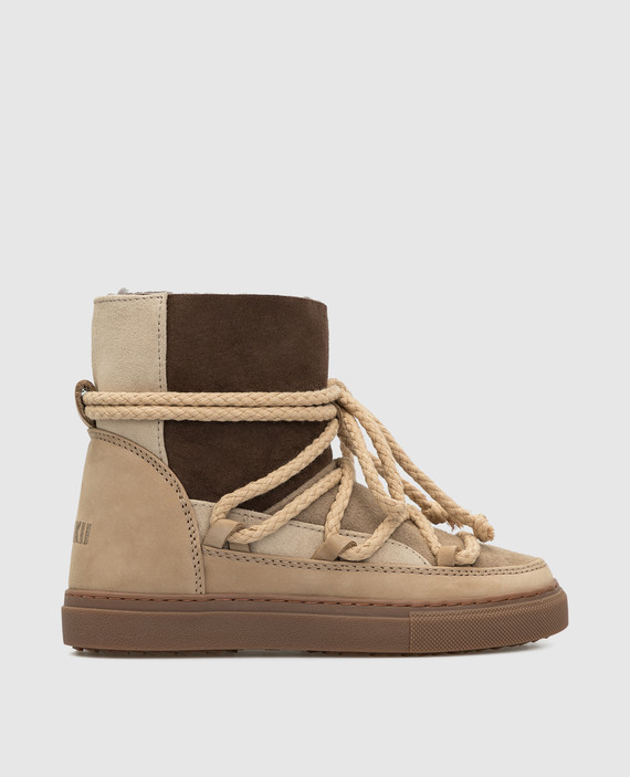 Детские бежевые ботинки