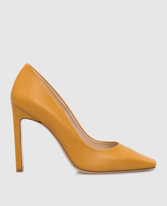 Желтые кожаные лодочки