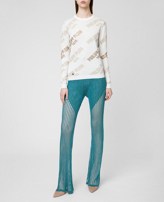Бирюзовые брюки hover