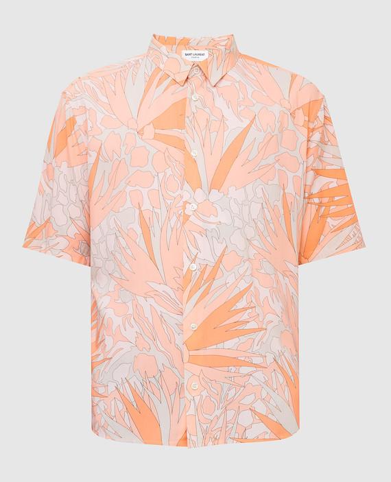 Светло-оранжевая рубашка